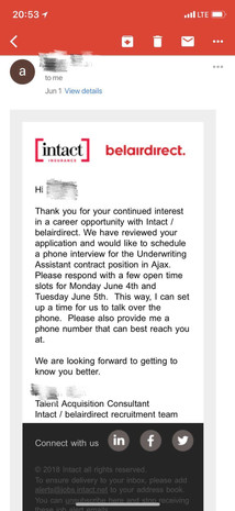 Intact Interview & Offer