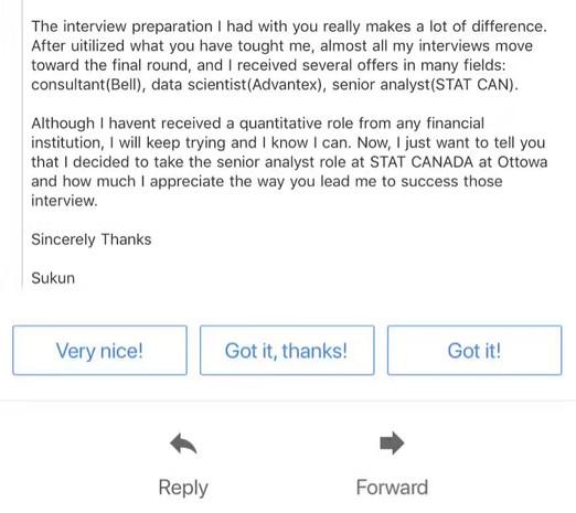 Statistics Canada Interview & Offer
