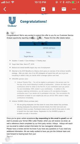 Unilever Interview & Offer