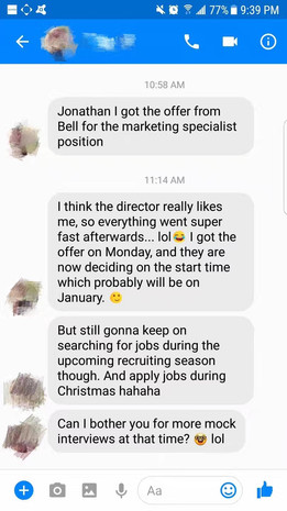 Bell Interview & Offer