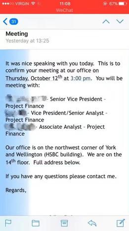 HSBC Bank Interview & Offer