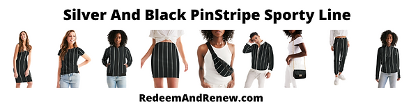 Silver And Black PinStripe Sporty Line.p
