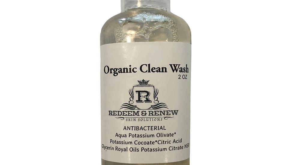 Antibacterial Organic Wash 2 Full oz NEW ITEM