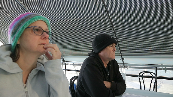 Two students eager to learn about sailing.