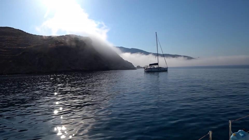Misty morning in Ios