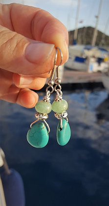 Turquoise and Aventurine Earrings