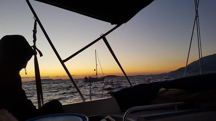 Sailing back to Kaş marina