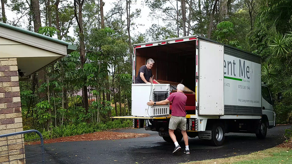 The first load of furniture bound for Brisbane