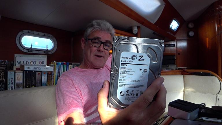 The dead 4TB hard drive