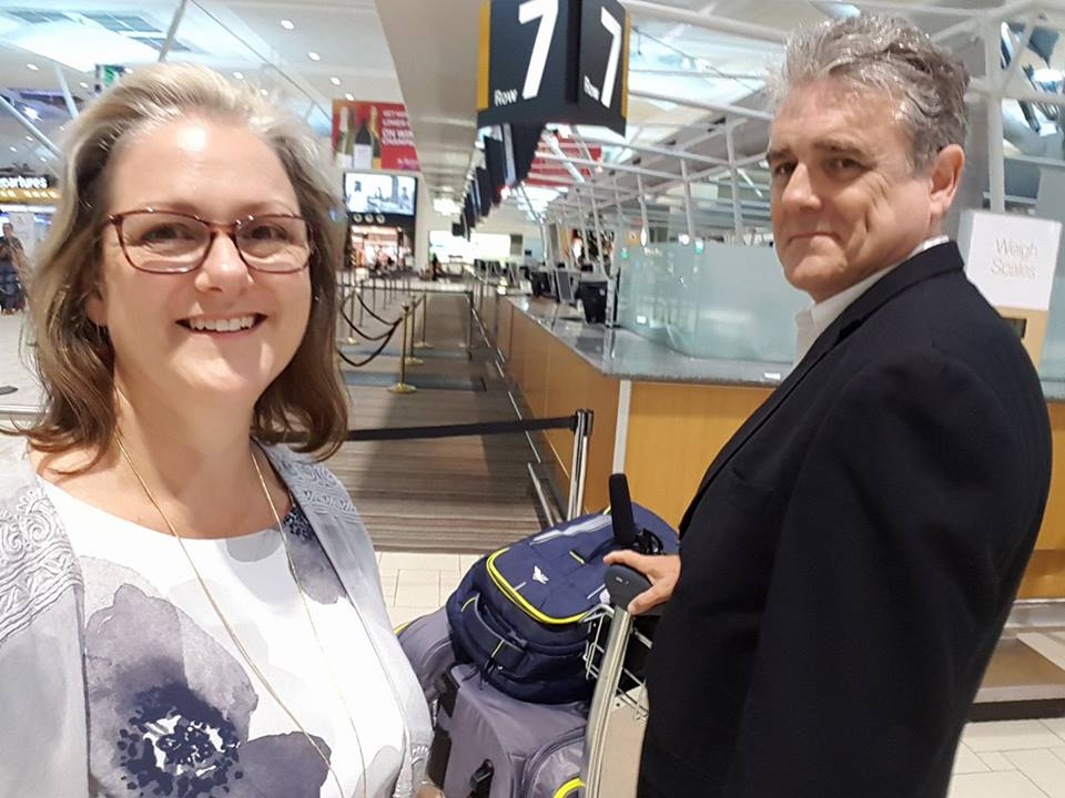 Aannsha and Barry at Brisbane Airport
