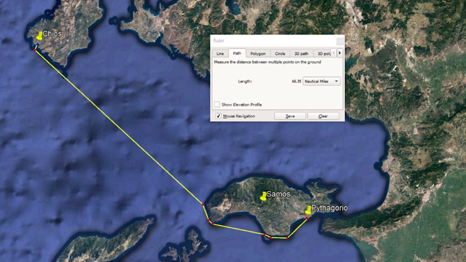 10 hours from Chios to Samos