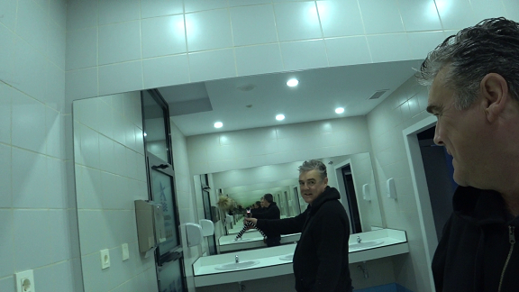 infinity mirror in Alcaidesa marina facillities
