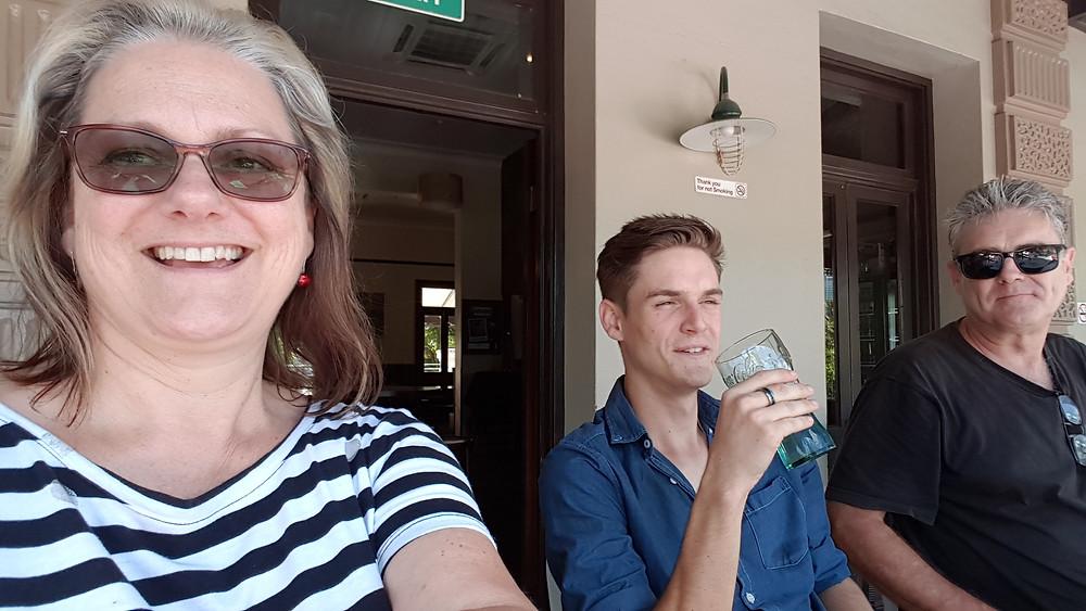 Aannsha, Luke & Barry at Southbank Brisbane