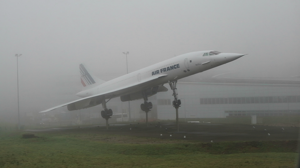 A monument to The Concorde Supersonic passenger plane.