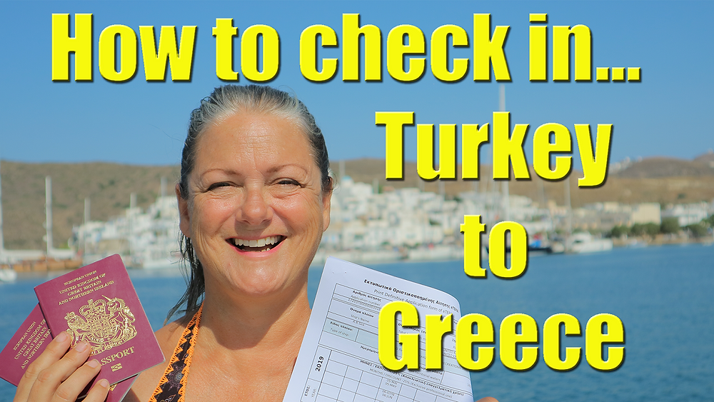 Checking in to Greece.