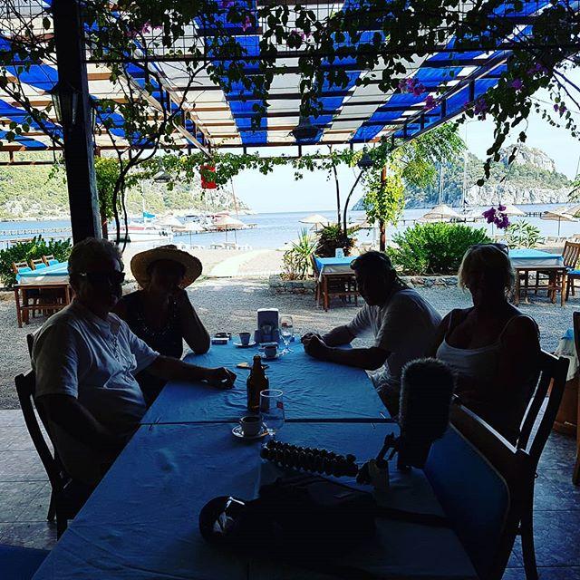 Having Turkish meze lunch in Ciftlik aft