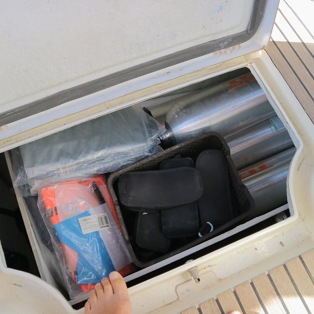 Scuba tanks locker