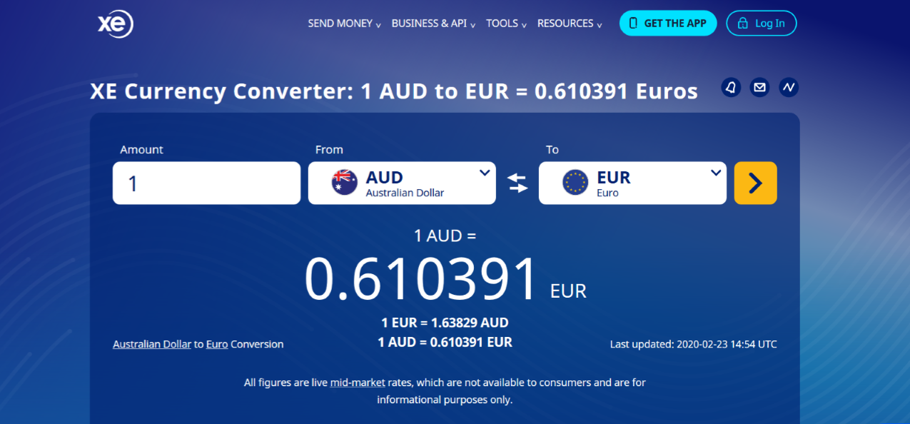 aud to eur