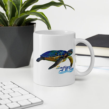 Mug with Green Turtle on both sides