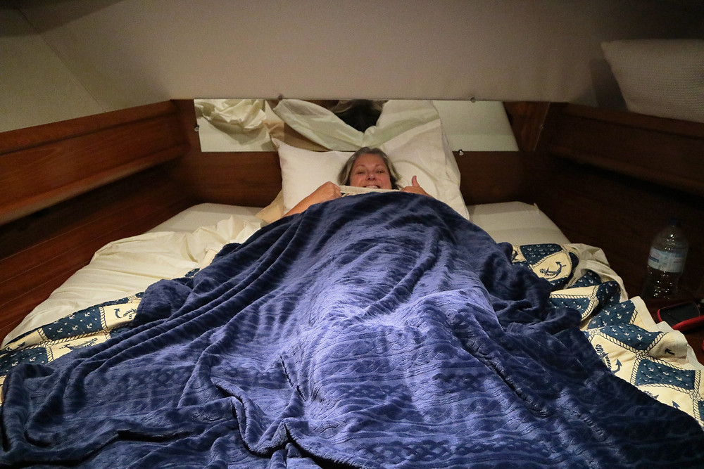 Aannsha enjoying her new bed!