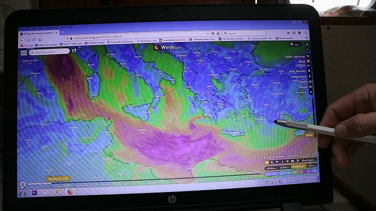 Predicted wind!