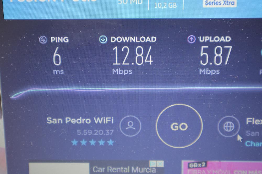 Great internet speed at the marina