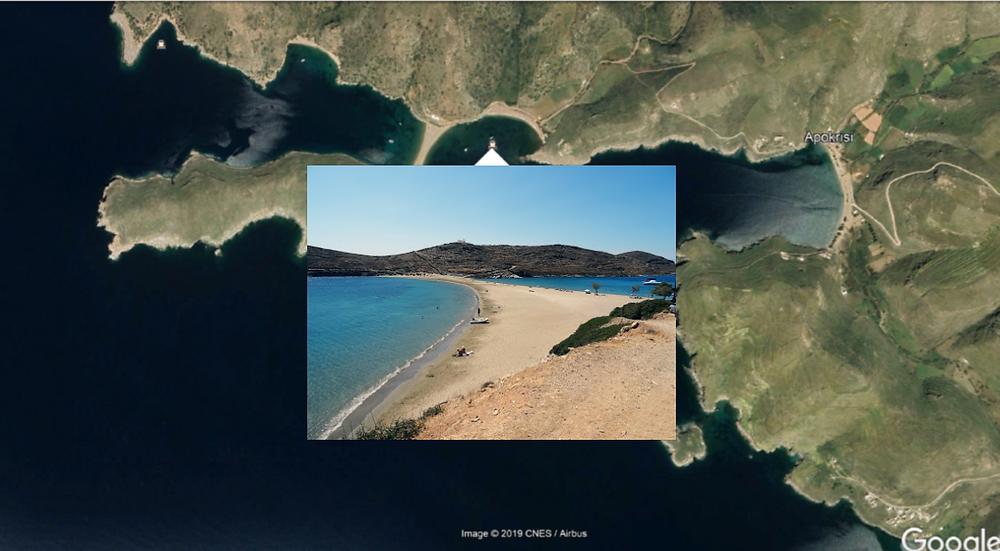 sand spit at Fikiadha bay, Kythnos