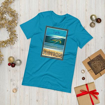 Turtle Sea Action Short-Sleeve Unisex T-Shirt