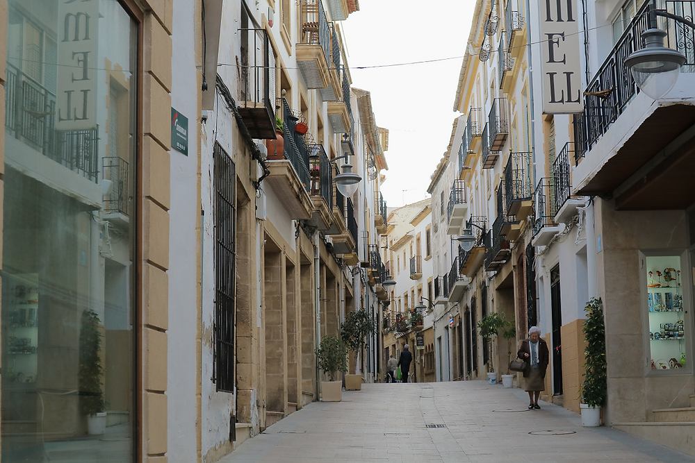 A typical street in Javea old town