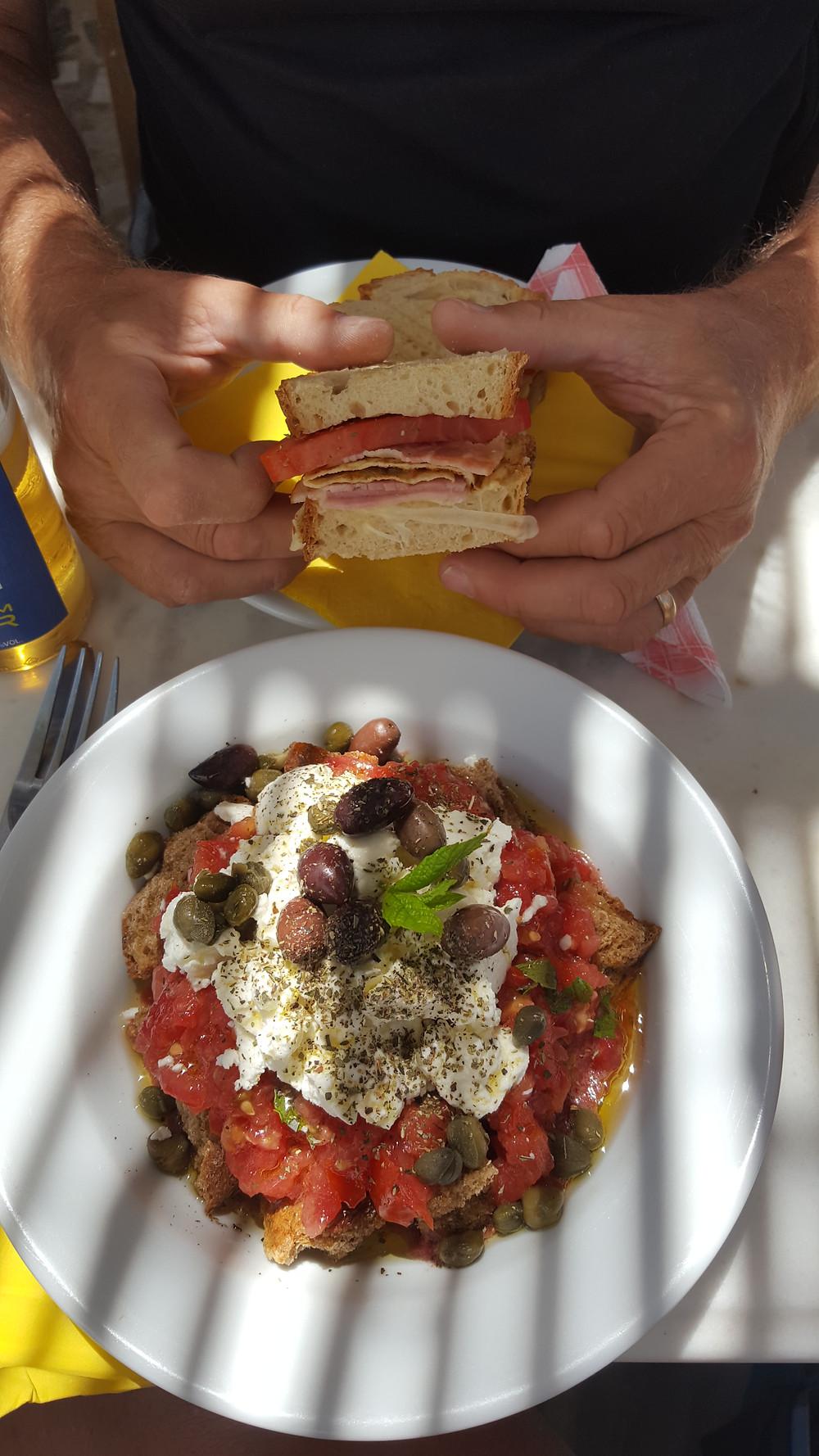 dakos and sandwich