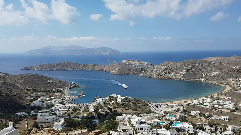 View from the top of Ios village Greece