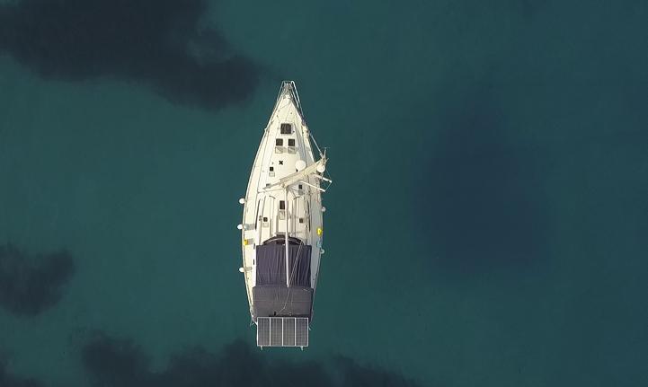A B Sea at anchor