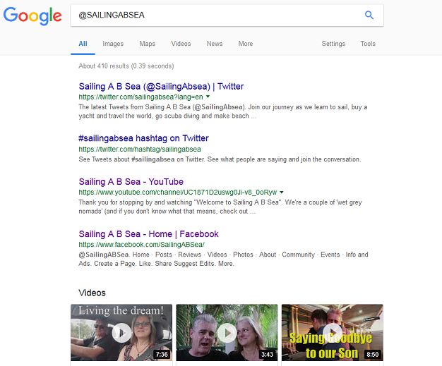 Type @sailingabsea into Google and see what you get