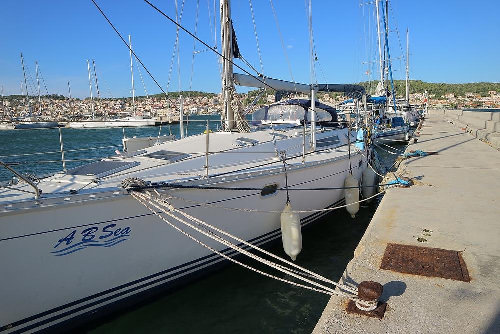 A B Sea tied up alongside