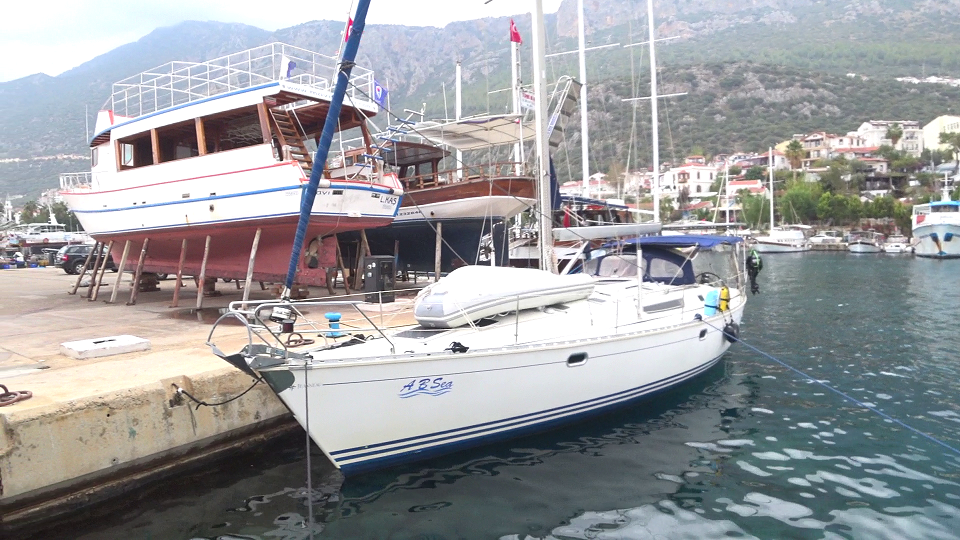 A B Sea berthed in Kas harbour
