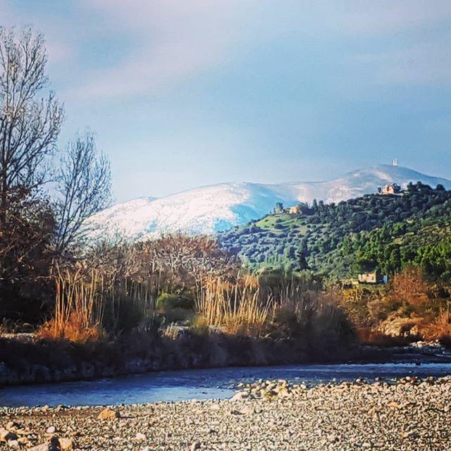 Evia had snow last night