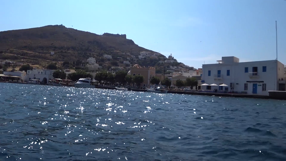 The castle on the hill at Leros, Greece.