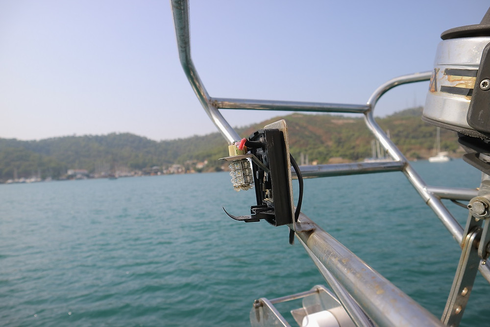 Port navigation light lens is missing at sea