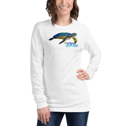 Unisex Long Sleeve Tee with Bright Turtle Logo