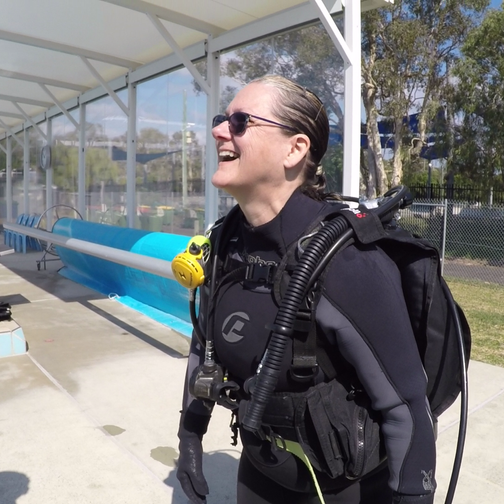 Pool course - dive gear on
