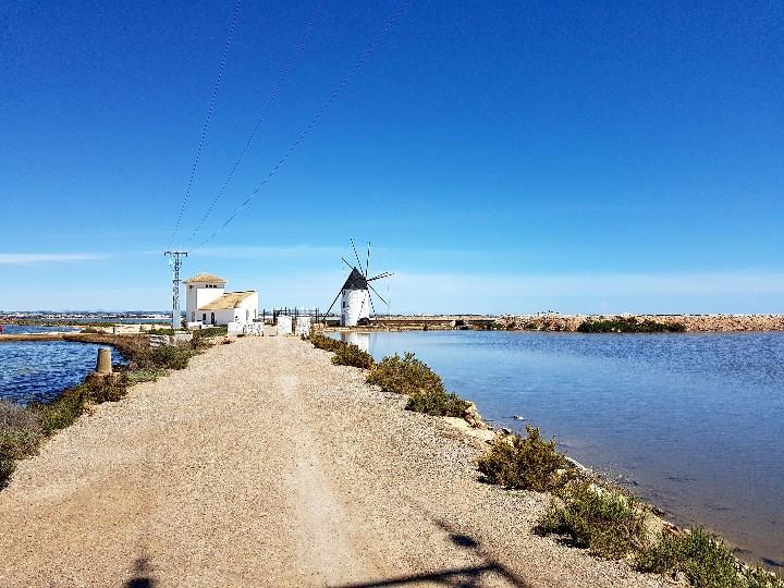 Windmill at salt flats