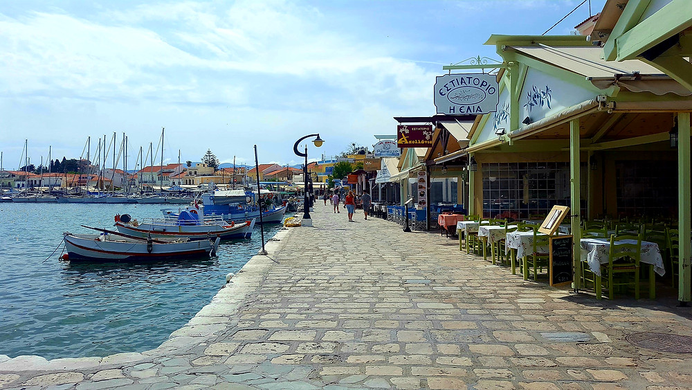 Pythagorion town harbour