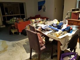 mess in lounge