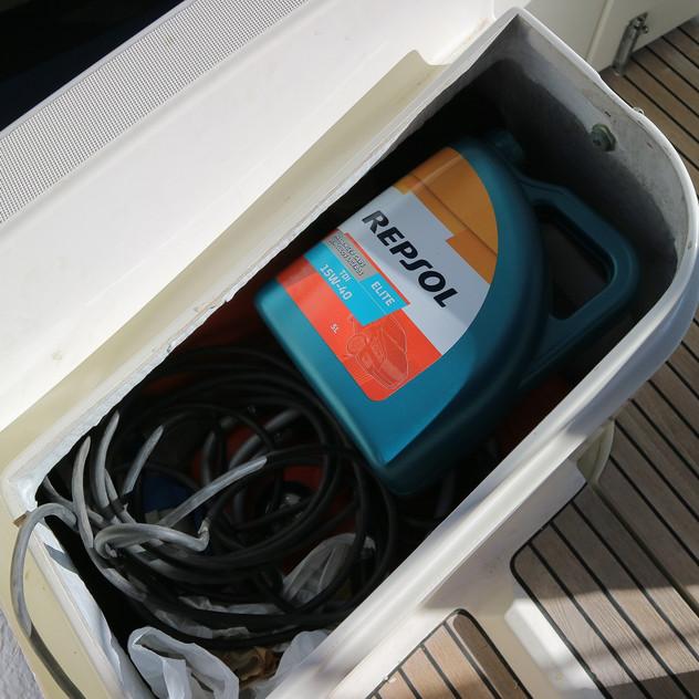 The helm seat locker