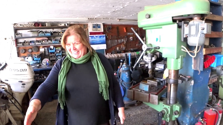 Ayden's wife met us at his workshop