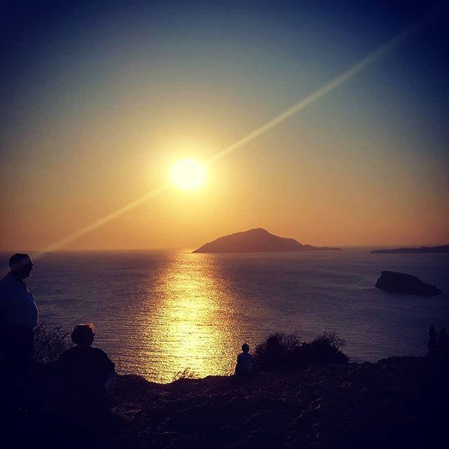 We enjoyed a super sunset from Poseidon'