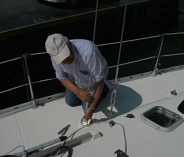 Reinstalling mast 3