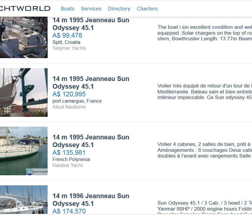 Yacht World website