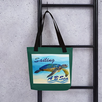 Tote bag with Green Sea Turtle