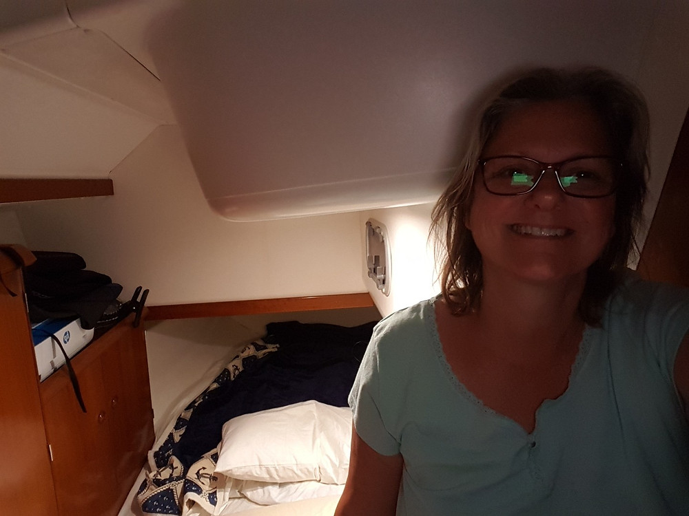 Sleeping in the port aft cabin